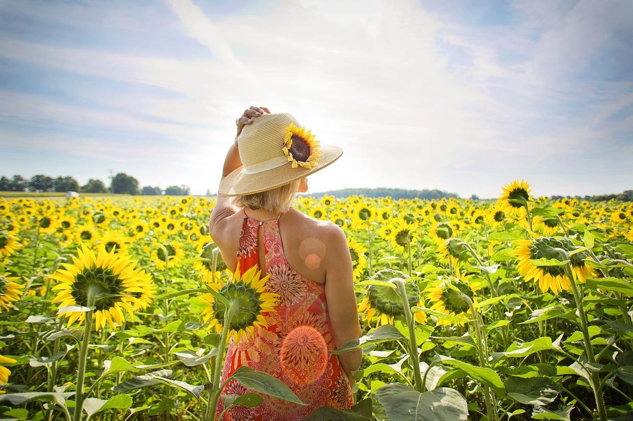 Menopauza - ženy v slnečnicovom poli